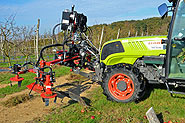 Herse rotative - montage viticulture intercep